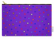 Red And Blue Polka Dots On Purple Fabric Background Carry-all Pouch