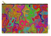 Red And Gold Abstract Carry-all Pouch