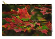 Red And Green Autumn Leaves Carry-all Pouch