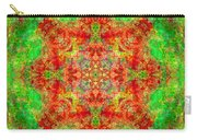 Red And Green Sun Mandala Carry-all Pouch