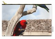 Red And Green Parrots Carry-all Pouch