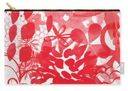 Red And White Bouquet- Abstract Floral Painting Carry-all Pouch