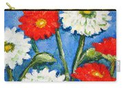 Red And White Flowers With A Blue Sky Carry-all Pouch