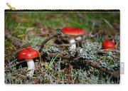 Red And White Mushrooms Carry-all Pouch