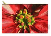 Red And White Poinsettia Flower Carry-all Pouch by Catherine Sherman