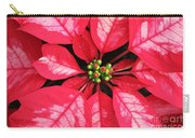 Red And White Poinsettia Carry-all Pouch