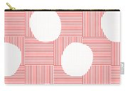 Red And White Poof  Carry-all Pouch