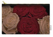 Red And White Roses Color Engraved Carry-all Pouch