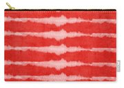 Red And White Shibori Design Carry-all Pouch by Linda Woods