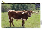 Red And White Texas Longhorn Bull Carry-all Pouch