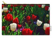Red And White Tulip Art Carry-all Pouch