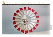 Red And White Windmill Carry-all Pouch