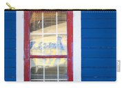 Red And White Window In Blue Wall Carry-all Pouch