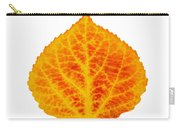 Red And Yellow Aspen Leaf 6 Carry-all Pouch