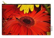 Red And Yellow Glory - The Flowers Of Summer - Gerbera Daisies Carry-all Pouch