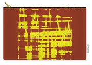 Red And Yellow Wave No 3 Carry-all Pouch