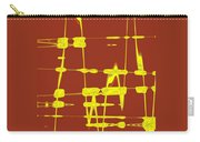 Red And Yellow Wave No 4 Carry-all Pouch