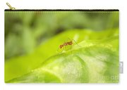 Red Ant On Green Leaf Carry-all Pouch