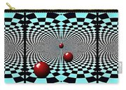Red Balls Triptych Carry-all Pouch