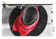 Red Bandana And Cowboy Hat Carry-all Pouch