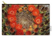Red Barell Cactus Flowers Carry-all Pouch