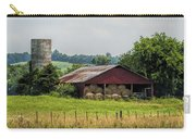 Red Barn And Bales Of Hay Carry-all Pouch