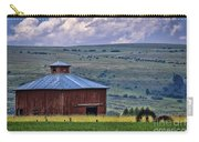 Red Barn And Barbed Wire Carry-all Pouch