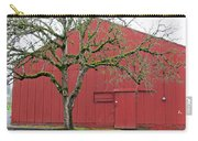 Red Barn And Green Tree In Dundee Hills Oregon Wine Country Carry-all Pouch
