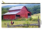 Red Barn And Rooster Carry-all Pouch