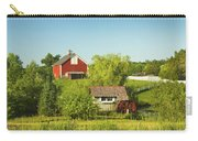 Red Barn And Water Mill On Farm In Maine Carry-all Pouch