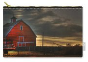 Red Barn At Dawn Carry-all Pouch