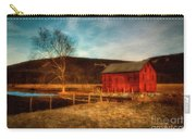 Red Barn At Twilight Carry-all Pouch