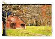 Red Barn In Late Fall Carry-all Pouch