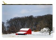 Red Barn In The Snow Carry-all Pouch