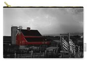 Red Barn On The Farm And Lightning Thunderstorm Bwsc Carry-all Pouch by James BO  Insogna