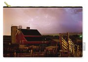 Red Barn On The Farm And Lightning Thunderstorm Carry-all Pouch by James BO  Insogna