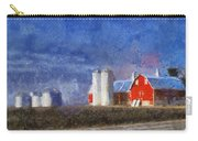 Red Barn With Silos Photo Art 02 Carry-all Pouch
