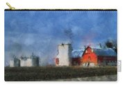 Red Barn With Silos Photo Art 03 Carry-all Pouch