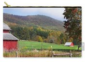 Red Barns And Mountains Carry-all Pouch