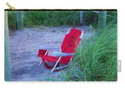 Red Beach Chair Carry-all Pouch