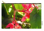 Red Begonia Peaking Through The Leaves Carry-all Pouch