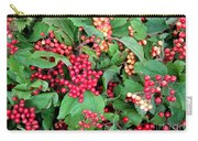 Red Berries And Green Leaves Carry-all Pouch