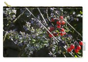 Red Berries And Violet Flowers Carry-all Pouch
