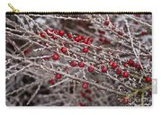 Red Berries Covered In Snow Carry-all Pouch