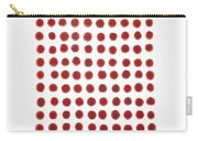 Red Berries In A Grid Carry-all Pouch