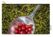 Red Berries Silver Spoon Moss Carry-all Pouch by Edward Fielding