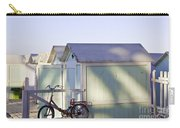 Red Bicycle At Mondello Beach Carry-all Pouch