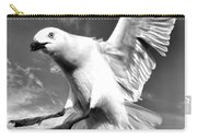 Red Billed Seagull In Black And White Carry-all Pouch