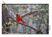 Red Bird In Dogwood Carry-all Pouch