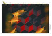 Red Black Blocks Abstract Carry-all Pouch
